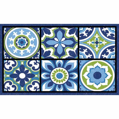 Elfrieda Medallion Tiles Doormat