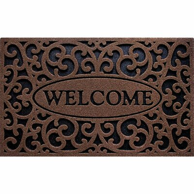 Lashbrook Welcome Doormat Color: Iron Coffee