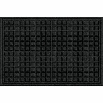 Lasseter Blocks Doormat Mat Size: Rectangle 2 x 3, Color: Onyx