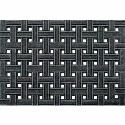Haynes Weave Boot Trays & Scraper Rug Size: Rectangle 2 x 3, Color: Gray