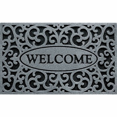 Lashbrook Welcome Doormat Color: Iron Graphite