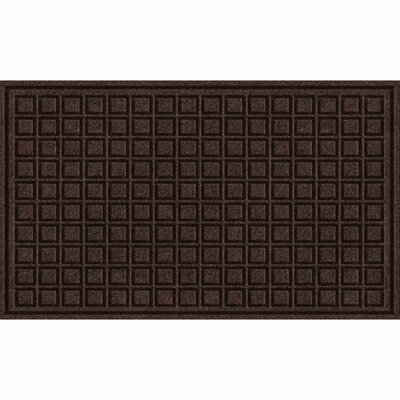 Lasseter Blocks Doormat Mat Size: Rectangle 16 x 26, Color: Walnut