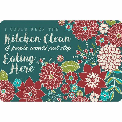 Haysi Keep the Kitchen Clean Kitchen Mat