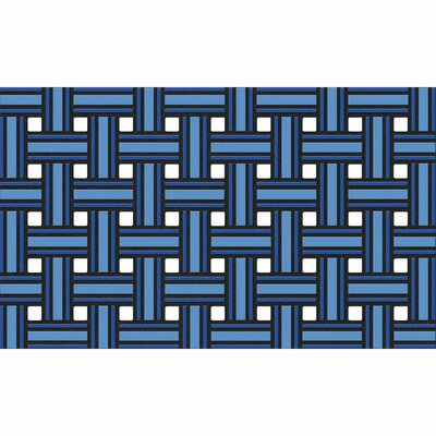 Haynes Weave Boot Trays & Scraper Mat Size: Rectangle 16 x 26, Color: Blue
