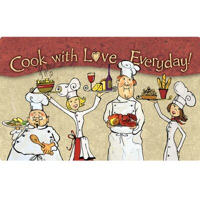 Gretna Cook with Love Everday Kitchen Mat