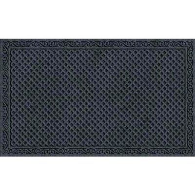 Lasseter Iron Lattice Doormat Color: Onyx
