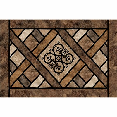 Laseter Rustic Lattice Doormat