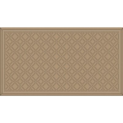 Joesph Tiles Kitchen Mat Color: Oxford Tan