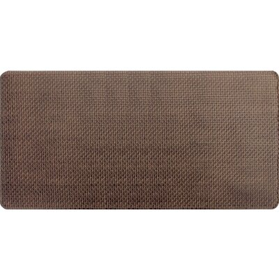 Hillsville Pro Chef Basket Weave Kitchen Mats Color: Brown, Rug Size: 18 x 35