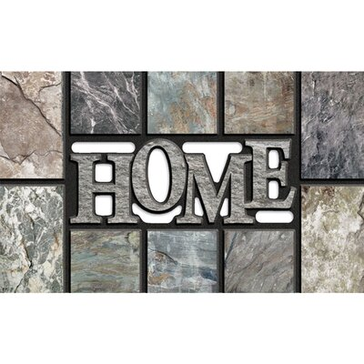 Elfrieda Home Slate Doormat Color: Gray