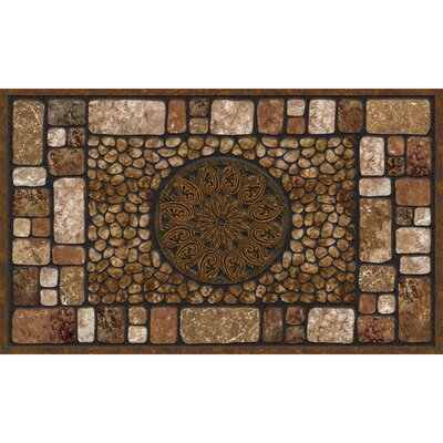 Elfrieda Rectangle Doormat Color: Brown