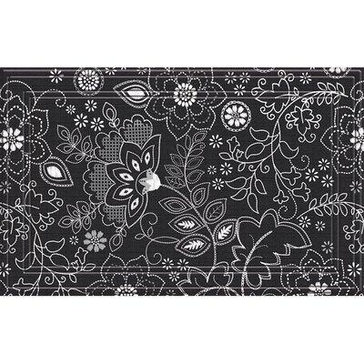 Haynesville Weave Floral Stitch Doormat