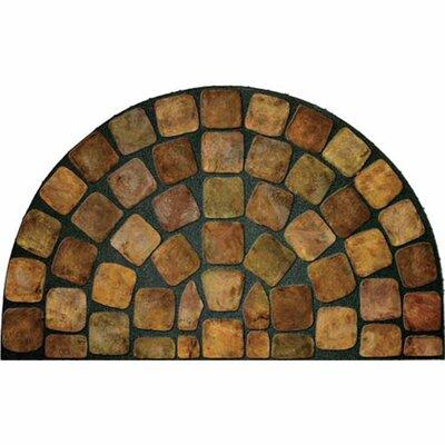 Elfrieda Stones 1/2 Round Doormat