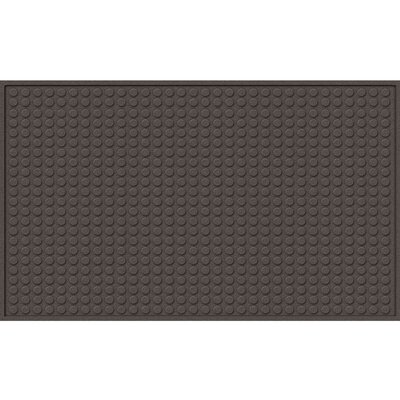Quinwood Dots Doormat Mat Size: Rectangle 16 x 26, Color: Smoke