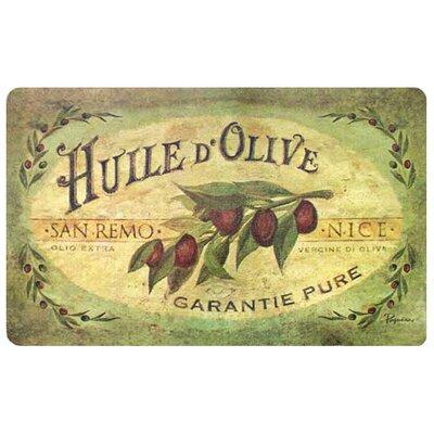 Cushion Comfort Vintage Olive Oil Kitchen Mat