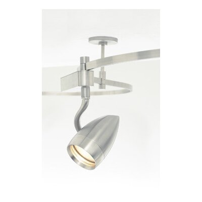 Breeze PowerJack 1-Light Halide Track Head Shade Color: Frost, Finish: White