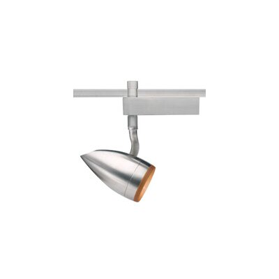 Breeze PowerJack 1-Light Halide Track Head Color: Amber, Finish: White