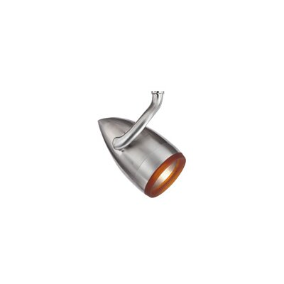 Breeze PowerJack 1-Light Halide Track Head Color: Amber, Finish: Satin Nickel