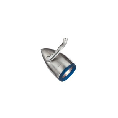 Breeze PowerJack 1-Light Halide Track Head Color: Cobalt, Finish: Satin Nickel