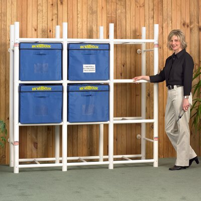 "Bin Warehouse Storage Systems 12 Tote Storage System 69"" H 4 Shelf Shelving"