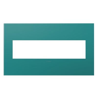 adorne 4-Gang Wall Plate Finish: Turquoise Blue
