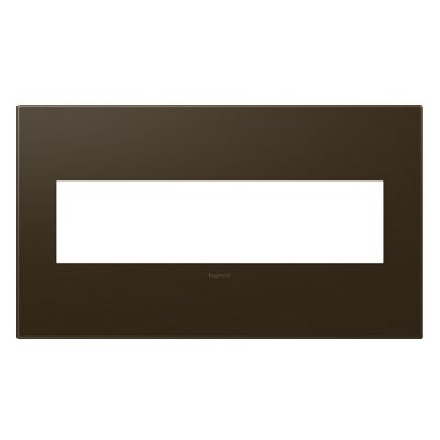 adorne 4-Gang Wall Plate Finish: Bronze