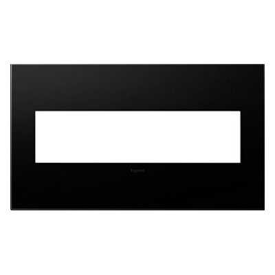 adorne 4-Gang Wall Plate Finish: Graphite