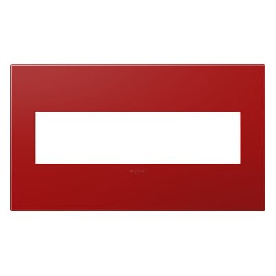 adorne 4-Gang Wall Plate Finish: Cherry