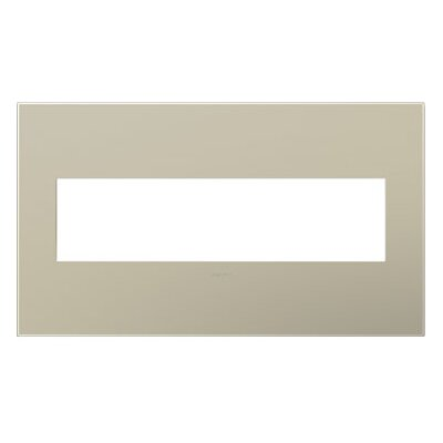 adorne 4-Gang Wall Plate Finish: Titanium