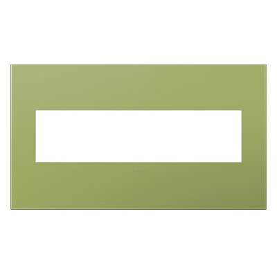 adorne 4-Gang Wall Plate Finish: Lichen Green
