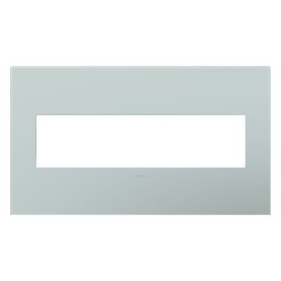 adorne 4-Gang Wall Plate Finish: Pale Blue