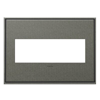 adorne 3-Gang Wall Plate Finish: Brushed Pewter