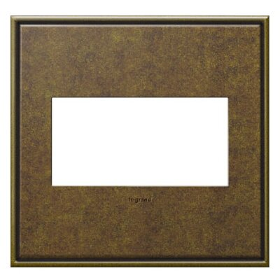 adorne 2-Gang Wall Plate Finish: Aged Brass