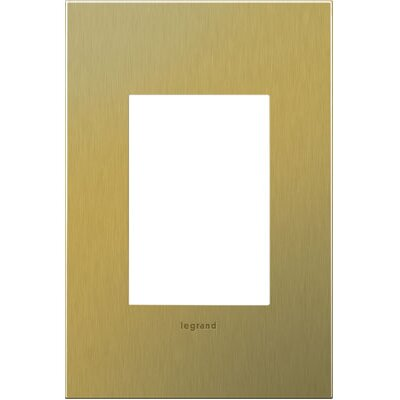 adorne 1-Gang 3-Module Wall Plate Finish: Brushed Brass