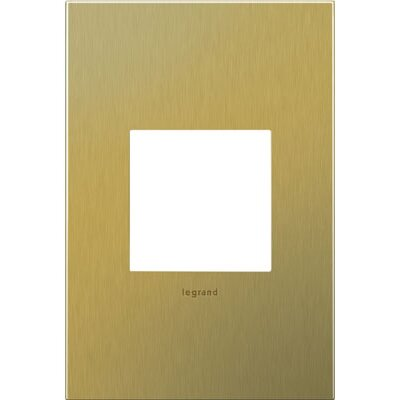 adorne 1-Gang Wall Plate Finish: Brushed Brass