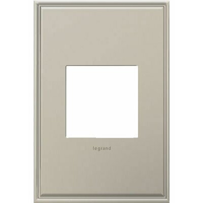 adorne 1-Gang Wall Plate Finish: Antique Nickel
