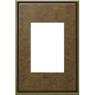 adorne 1-Gang 3-Module Wall Plate Finish: Aged Brass
