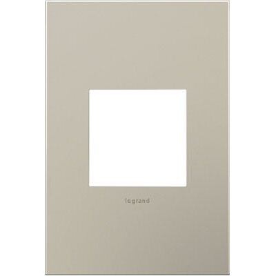 adorne 1-Gang Wall Plate Finish: Satin Nickel