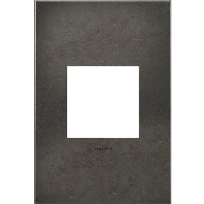 adorne 1-Gang Wall Plate Finish: Dark Burnished Pewter