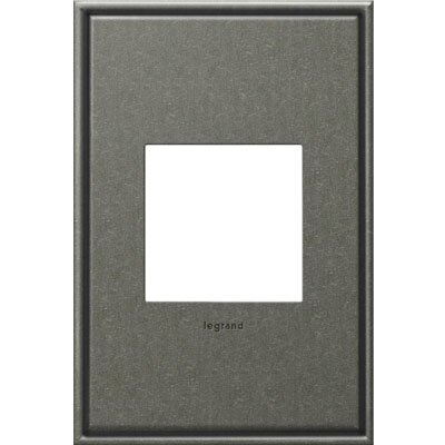 adorne 1-Gang Wall Plate Finish: Brushed Pewter