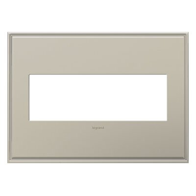 adorne 3-Gang Wall Plate Finish: Antique Nickel