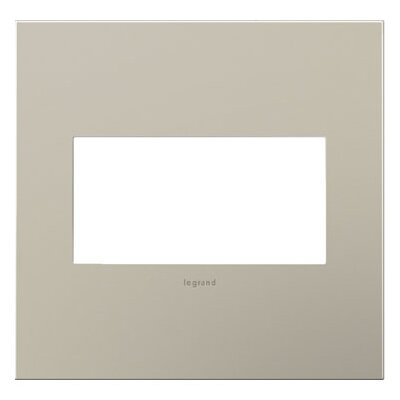 adorne 2-Gang Wall Plate Finish: Satin Nickel