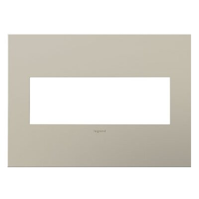 adorne 3-Gang Wall Plate Finish: Satin Nickel