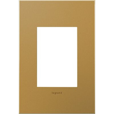 adorne 1-Gang 3-Module Wall Plate Finish: Satin Bronze