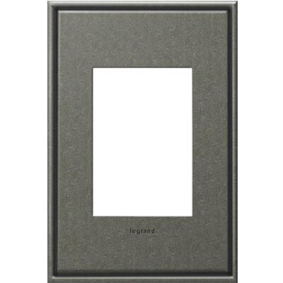 adorne 1-Gang 3-Module Wall Plate Finish: Brushed Pewter