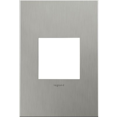 adorne 1-Gang Wall Plate Finish: Brushed Stainless Steel