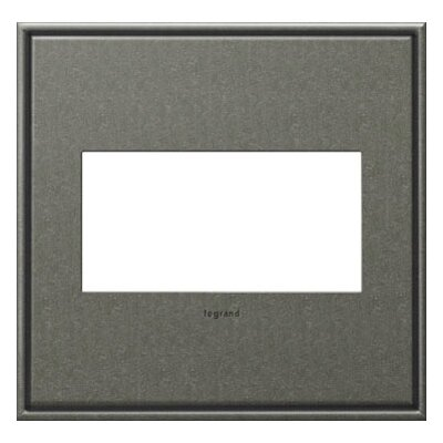 adorne 2-Gang Wall Plate Finish: Brushed Pewter