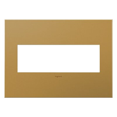 adorne 3-Gang Wall Plate Finish: Satin Bronze