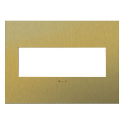 adorne 3-Gang Wall Plate Finish: Brushed Brass