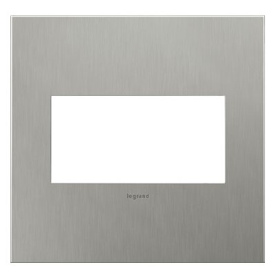 adorne 2-Gang Wall Plate Finish: Brushed Stainless Steel